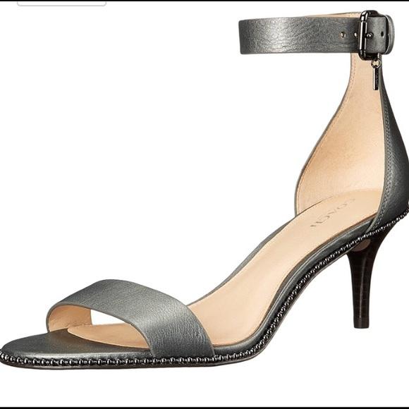 02e8c1f612 Coach Shoes | Final Sale Gun Metallic Kitten Heel | Poshmark